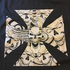 Biker T-Shirt: Iron Cross w/Skulls