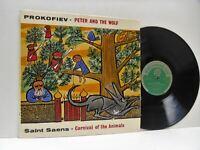 PROKOFIEV peter and the wolf LP EX+/EX, T 381 vinyl, hermann scherchen, uk, 1964