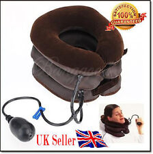NEW Air Inflatable Pillow Cervical Neck Head Pain Traction Support Brace Device
