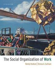 The Social Organization of Work by Hodson, Randy; Sullivan, Teresa A.