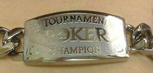 TOURNAMENT Silver Poker Champion Bracelet - Great Tournament Prize WSOP