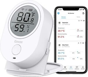 Govee  Wireless Thermo-Hygrometer - White Bluetooth Thermometer