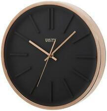 UNITY MISSOURI BLACK DIAL CLOCK WITH  ROSE GOLD CASE