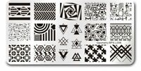 Geometry Theme Nail Art Stamping DIY Manicure Template Image Plate BPX-L006