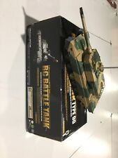 Rc Battle Tank 1/24 Type 90 plastic vehicle - For Parts - Tank and Manual