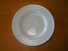 Food Network MERINGUE WHITE Set of 5 Salad Plates 8 1/4 Embossed Rings