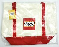 """Lego Large Canvas Tote Travel Beach Bag Pocket Handles Red & Yellow 20"""" NEW"""
