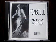 Rosa Ponselle: Prima Voce Audio Cd (Musical Heritage Society, 1996, 76 minutes)