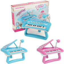 Kids Toy Piano Electronic Keyboard Music Instruments Light Sound With Microphone