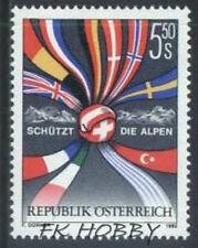 Austria 1992 Mi 2065 ** Flagi Flag Alpen