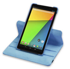 Folding 360 Degree Rotating Case for Google Nexus 7 HD 2nd Gen Light Blue