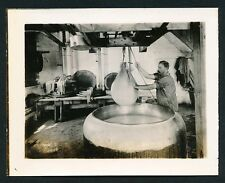 c. 1910 CHEESE MAKING, DIPPING CURD Broadhead Wisconsin Vintage Photo