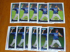 Lot (15) ANDRELTON SIMMONS 2012 Bowman (10) Chrome, (5) Base Braves Rookie Cards