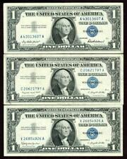 ( Three Notes ) $1 1957 Silver Certificates* More Paper Currency For Auction