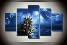 Modern Abstract Oil Painting Wall Decor Art Huge - The Sea Sailboat Landscape