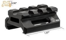"""Leapers UTG Slim Picatinny/weaver Riser Mount, 0.5"""" Height, 3 Slot MT-RSX5S"""