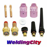 "TIG Welding Gas Lens Accessory Kit (3/32"") for Torch 17/18/26 T14 