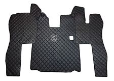 Set of RHD Floor Mats Cover For SCANIA R 2004-2013 Manual BLACK Eco Leather.