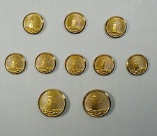 LIGHTHOUSE Lands End Blazer Jacket Replacement 10 Buttons  Waterbury Brass Gold