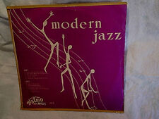 MODERN JAZZ LP,velmo 1012,rock around the clock,a swingin and a jivin,sugar time