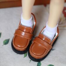 """Brown Flats Shoes Synthetic Leather For 1/6 11"""" BJD YOSD AOD DOLL G&W"""