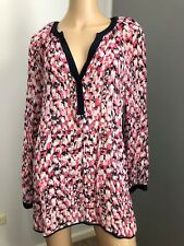sussan long sleeve semi-sheer pink top shirt 12 near new