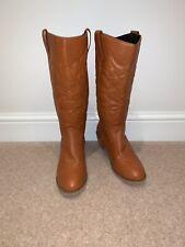 Ladies Tan Western Cowboy Boots Size 3-4