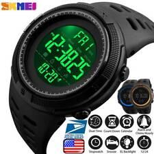 USA Men's Sport Army Military Alarm Calendar Kids Waterproof Digital Wrist Watch