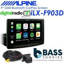 "Alpine iLX-F903D 9"" DAB Bluetooth CarPlay Android iPhone Car Stereo Rear Camera"
