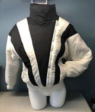 Vintage 80s Ua Sport Ski Jacket Ladies Retro Large Black & White