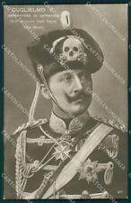Reali Royalty Germany Guglielmo II Usseri Morte Skeleton Foto postcard QT5029