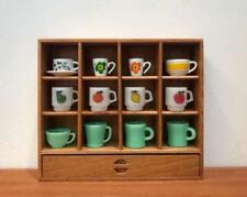 Dollhouse Mini Cherry Wood Cup Holder / Shelf Solid Wood Room Items