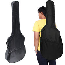 """41"""" FULL SIZE PROTECTIVE CLASSICAL ACOUSTIC GUITAR BACK BAG CARRY CASE BLACK"""
