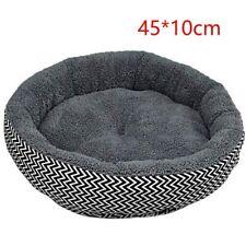 Round Dog Bed Warm Pet Bed Soft Kitten Sleeping Mat Cozy Puppy Nest Grey L