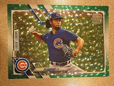 2021 TOPPS SERIES 1 #60 YU DARVISH GREEN ICE PARALLEL CHICAGO CUBS 311/499