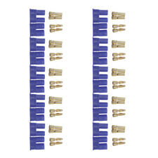 10 PAIRS Male & Female EC2 2.0mm Lipo Battery Connector Gold Bullet Plug