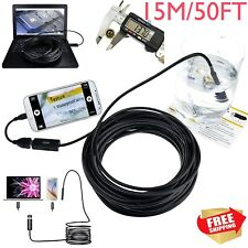 Pipe Inspection Camera Endoscope Video15m/50 Ft Sewer`Drain CleanerWaterproofYBF