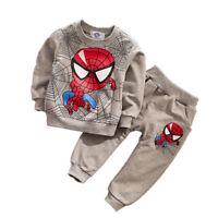 2PCS Toddler Boys Girls Long Sleeve T-Shirt Tops + Pants Set Outfits Tracksuit