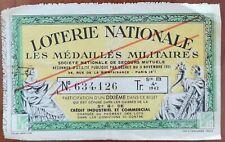 Billet de loterie nationale 1942 4e tranche B - LES MÉDAILLÉS MILITAIRES - 1/10
