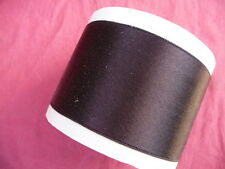 10 m de ruban ancien satin nègre de 55mm ,ruban à chapeau , mercerie ancienne