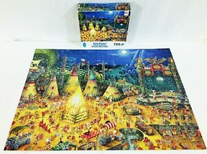 Ceaco Funny Business Hunter Village Jigsaw Puzzle 750 Piece Made in USA