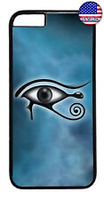 Teal Illuminati Horus Eye Rubber Case Cover For iPhone Xs Max XR X 8 7 6 Plus 5