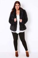 Faux Fur Unbranded Plus Size Coats & Jackets for Women