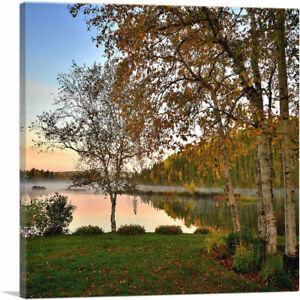 ARTCANVAS Autumn in Canada Fall Colors Square Canvas Art Print