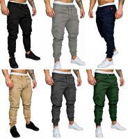 Hot Men's Slim Fit Urban Straight Leg Trousers Casual Pencil Jogger Cargo Pants