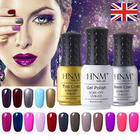 Gel Nail Polish Top Base Coat UV LED Soak Off Manicure Nail Color Salon 8ml HNM