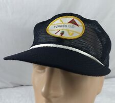 Vtg Forbes Golf Course Hat Cap Trucker Snapback Mesh Patch Topeka Kansas USA