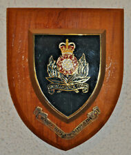 Vintage Intelligence Corps regimental mess wall plaque shield