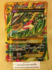 Pokemon MEGA M RAYQUAZA EX 98/98 OVERSIZED HOLO JUMBO Card -XY Ancient Origins