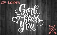 GOD BLESS YOU QUOTE STICKER DECAL LAPTOP YETI CAR TUMBLER CUP MACBOOK
